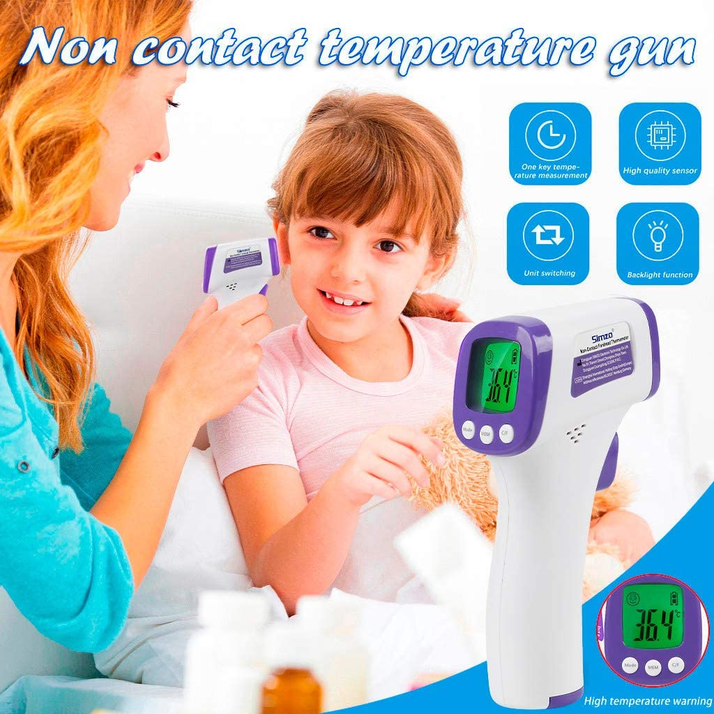 Hoolick Temperature LCD Digital Non-Contact IR Infrared Body Temperature Tool for Indoor and Outdoor Use