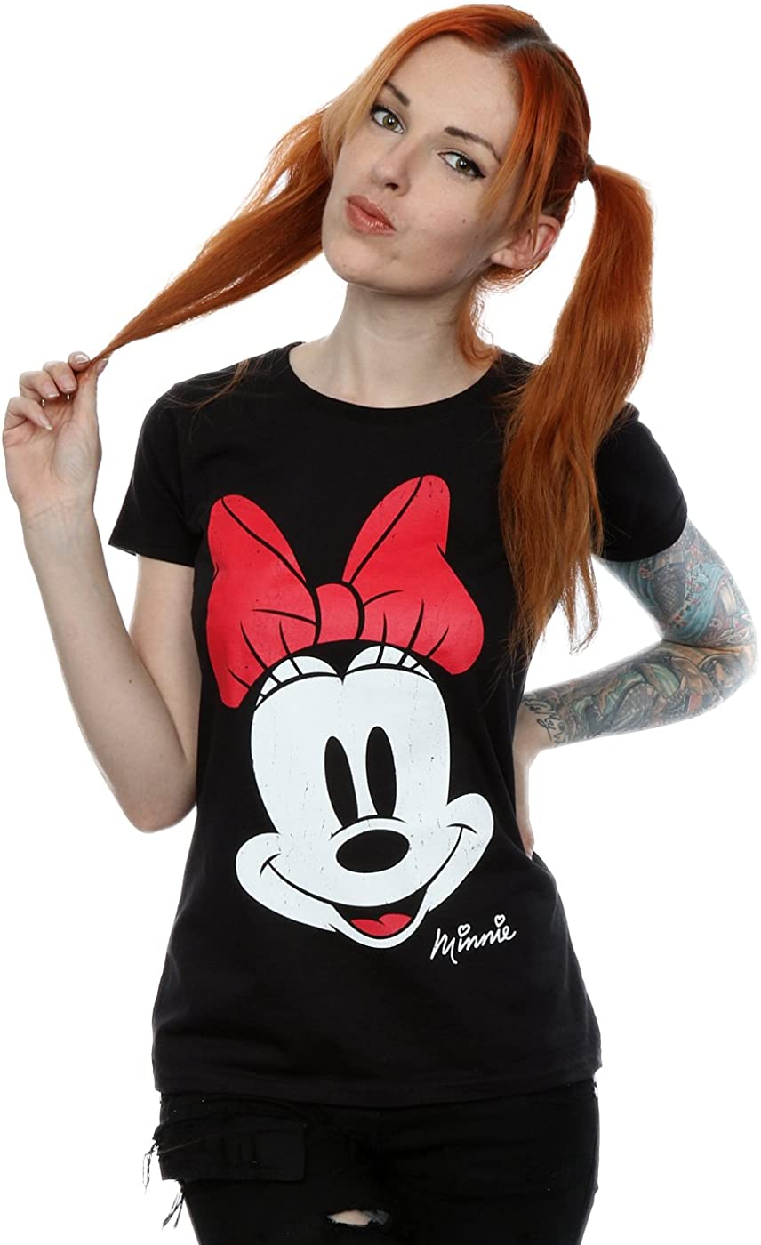Disney Femme Minnie Mouse Distressed Face T-shirt