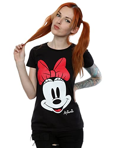 Disney mujer Minnie Mouse Distressed Face Camiseta