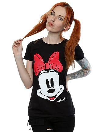 d18bb1e9 Amazon.com: Disney Women's Minnie Mouse Distressed Face T-Shirt ...