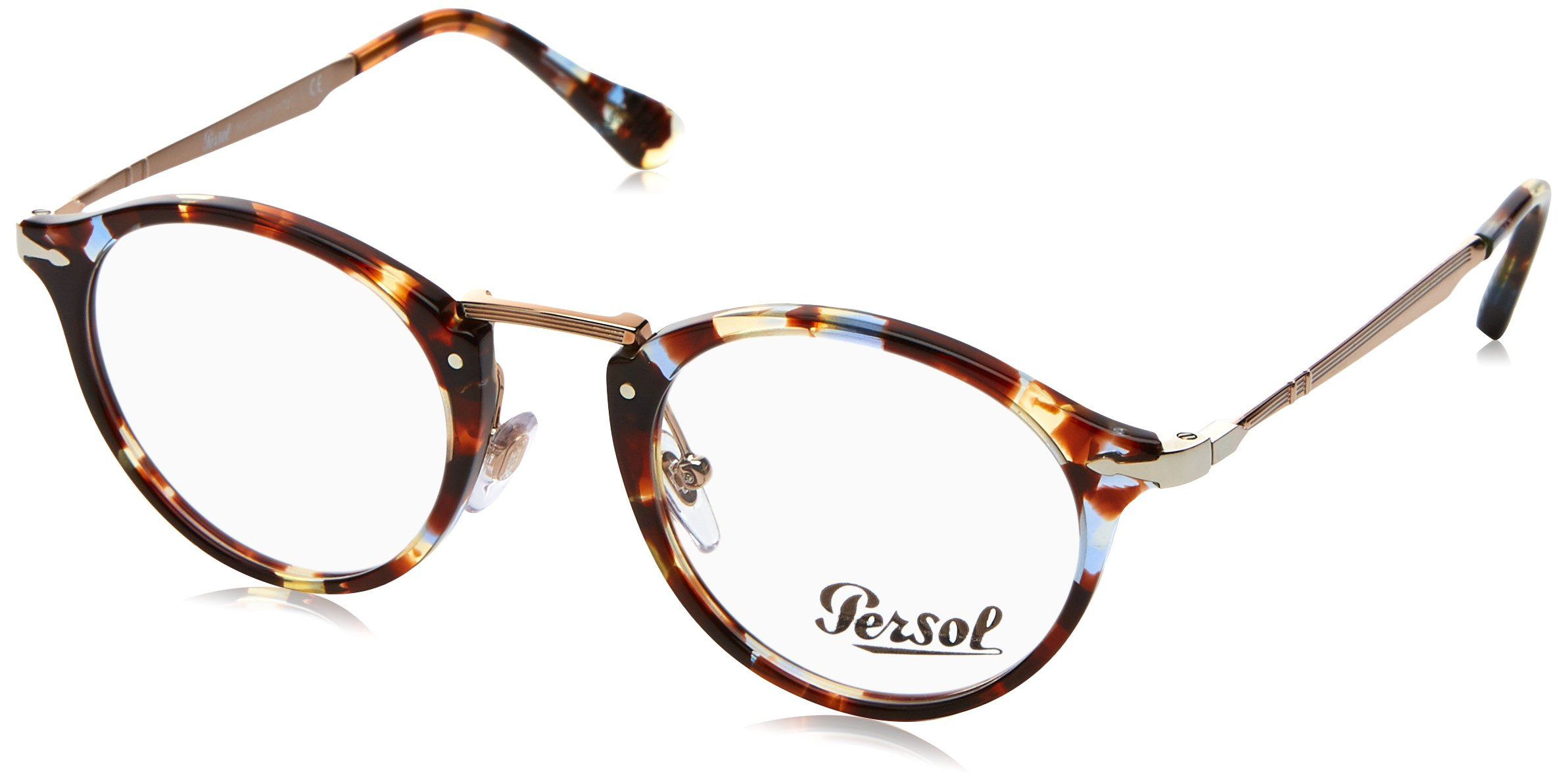 ویکالا · خرید  اصل اورجینال · خرید از آمازون · Persol PO3167V Eyeglasses 1058 Havana Azure Brown w/ Demo Lens 47mm wekala · ویکالا