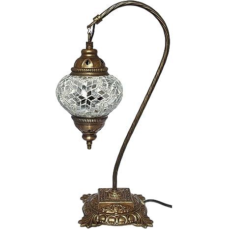 Mosaic lámpara de mesa, 16,5 cm, lámpara de escritorio, Boho ...