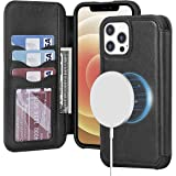imluckies Compatible with iPhone 12 Pro Max Wallet Case with Card Holder, Support Magsafe Charger, Magnetic PU Leather Slot C