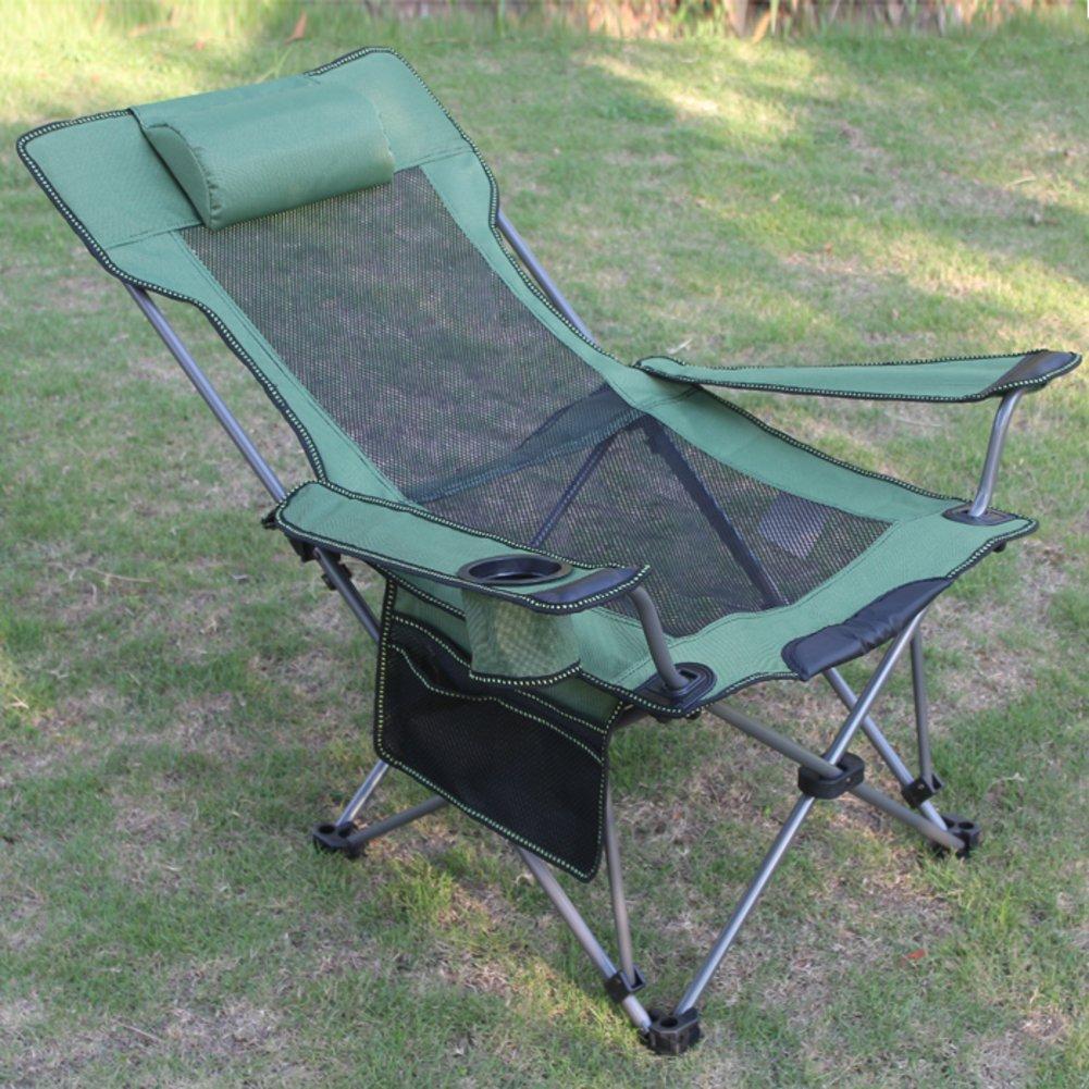 Be&xn Outdoor-klappstuhl, Liegestühle Lounge Chair Portable Zurück loungesessel Mountain Siesta Bett Stuhl-G W50xH90cm(20x35inch)