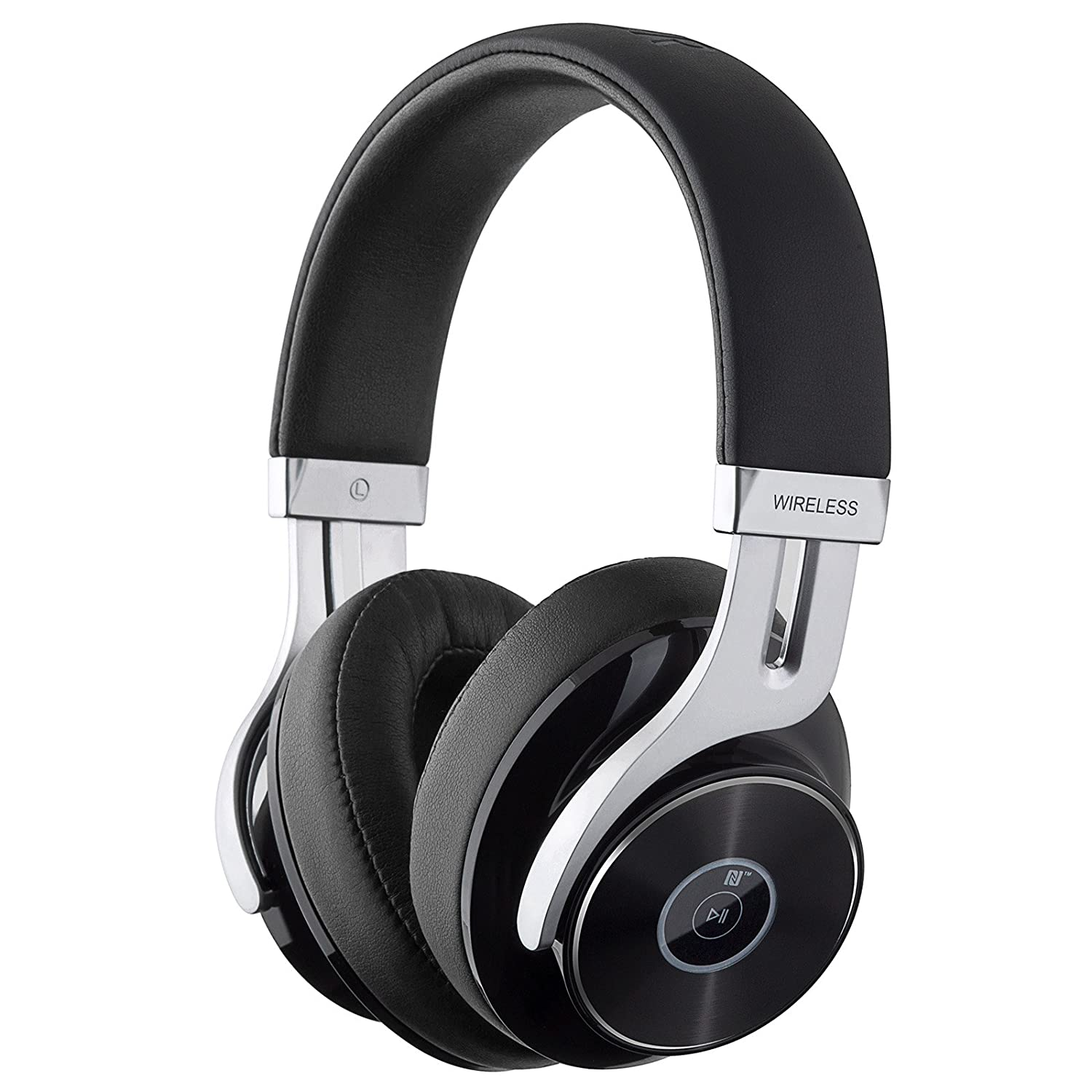 Edifier W855BT Bluetooth Headphones - Over-Ear Stereo Wireless Headphone with Microphone and Volume Control - Black