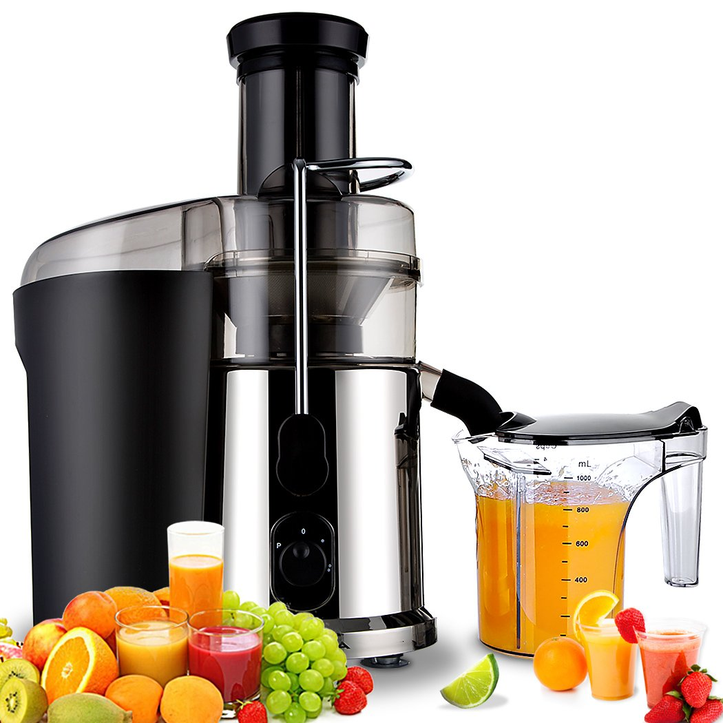 Juicer Extractor Lemon Juicer Fruit Machine Electric Juicer 850 Watts Fruit Centrifugal Juicer Fruit and Vegetables Extractor High Speed Stainless Steel Dual Speed Setting