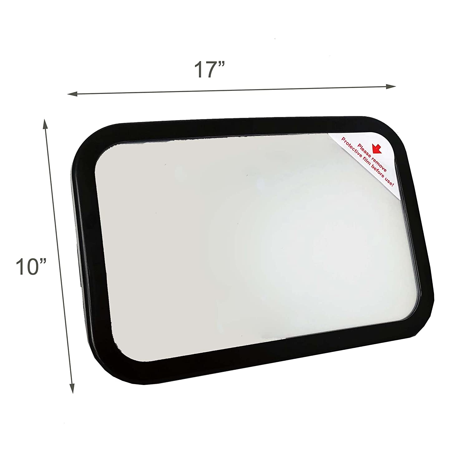 Essential Car Seat Acc Clearest and Most Stable Mirror View Infant in Rear Facing Car Seat With FREE Cleaning Cloth Sturdy Bracket Mirror for Car Seat Rear Facing Strengthen Fixed Baby Car Mirror