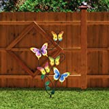 Juegoal 28 Inch Butterfly Garden Stake Decor