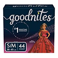 Goodnites Bedwetting Underwear for Girls, Small/Medium, 44 Ct