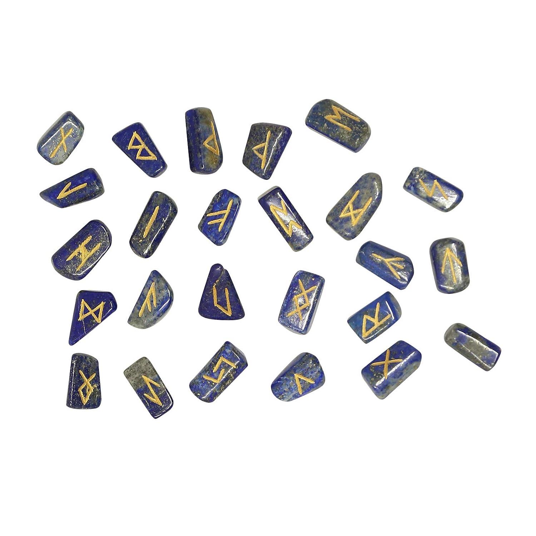 CRAFTSTRIBE Rubino Fuchsite Pietra Spritual Rune Set di cristallo naturale della pietra preziosa Tumble 25 Pc CT-RFRS-03