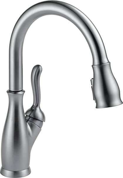 Delta Faucet Leland Single-Handle Kitchen Sink Faucet with Pull Down  Sprayer, ShieldSpray Technology and Magnetic Docking Spray Head, Arctic  Stainless ...