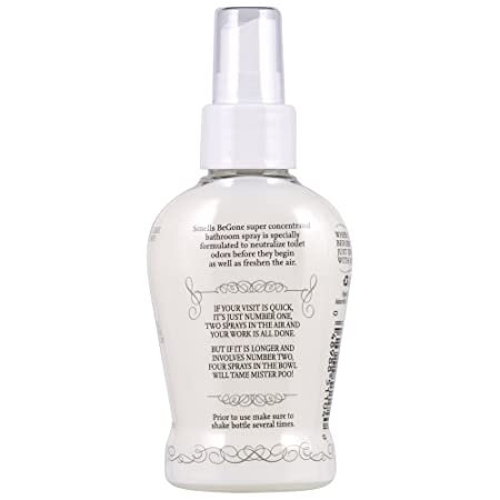 SMELLS BEGONE Essential Oil Air Freshener Bathroom Spray - Eliminates,  Neutralizes and Purifies Air & Toilet Odors - Made with 100% Pure Essential