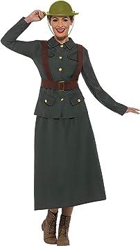 WW2 British Office Army Warden Wartime Adult Mens Womens 40s Fancy Dress Costume