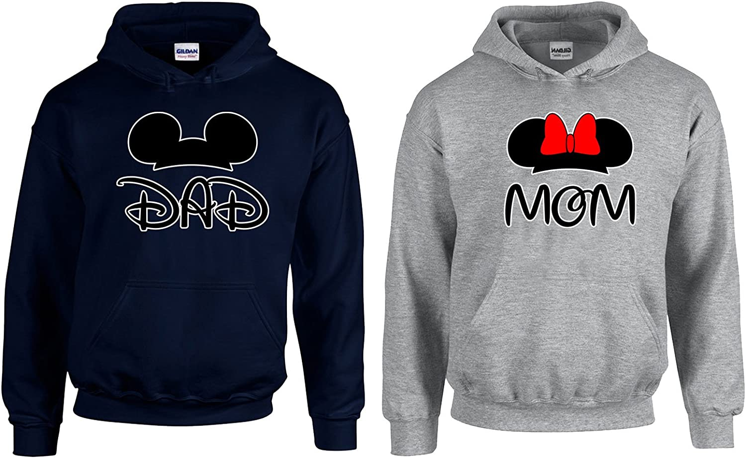 CAMALEN Mickey Dad Minnie Mom Couple Most Popular Hoodie Hooded Sweatshirt 2