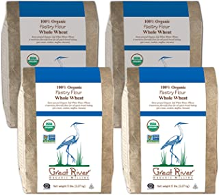 product image for Great River Organic Milling, Specialty Flour, Whole Wheat Pastry Flour, Stone Ground, Organic, 5-Pounds (Pack of 4)