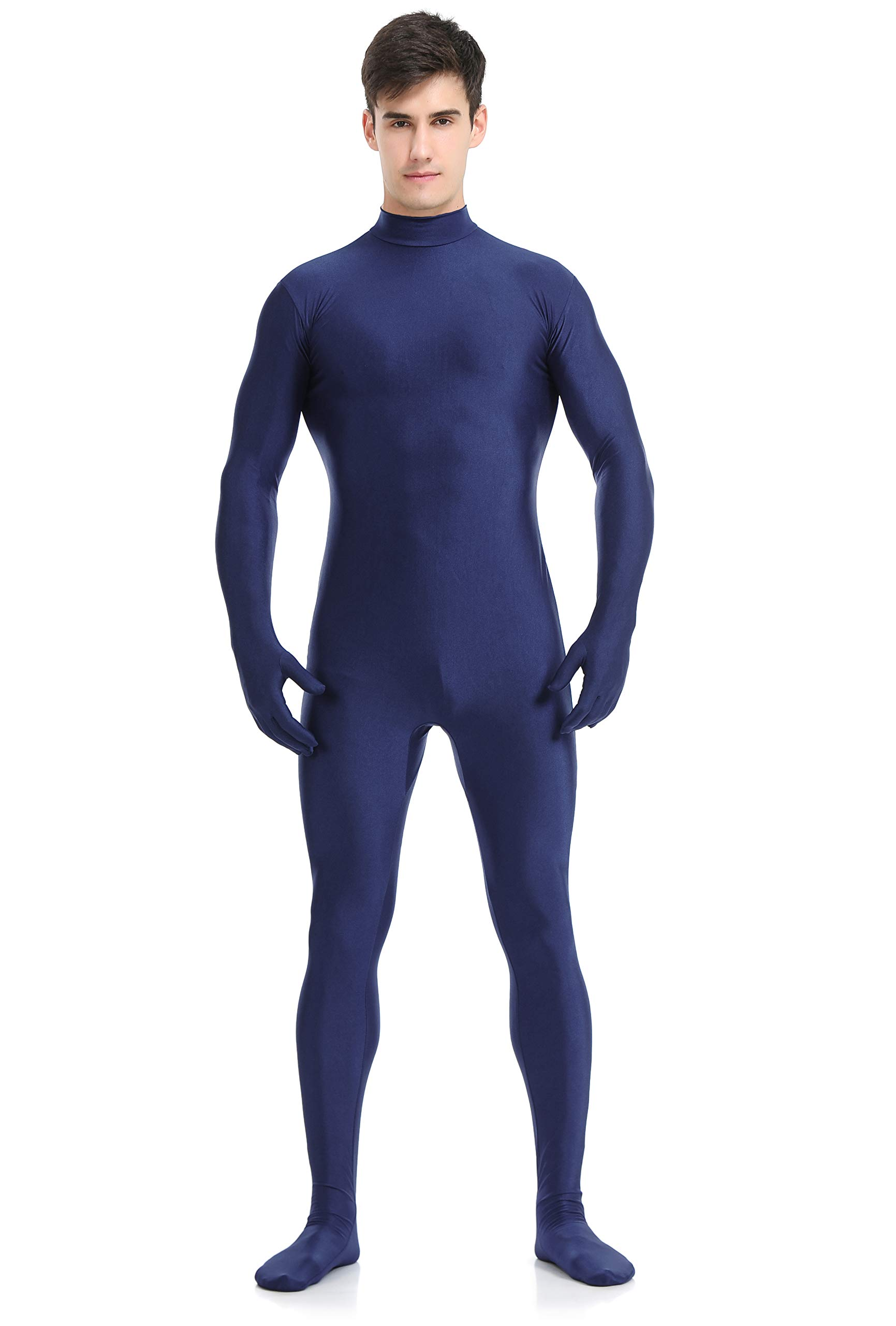 speerise Adult Full Lycra Spandex Bodysuit Unitard Costume Zentai Suit Without Hood, S, Navy by speerise