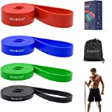 WSAKOUE Pull Up Bands, Resistance Bands, Pull Up Assist Band Exercise Resistance Bands for Body Stretching, Powerlifting, Res