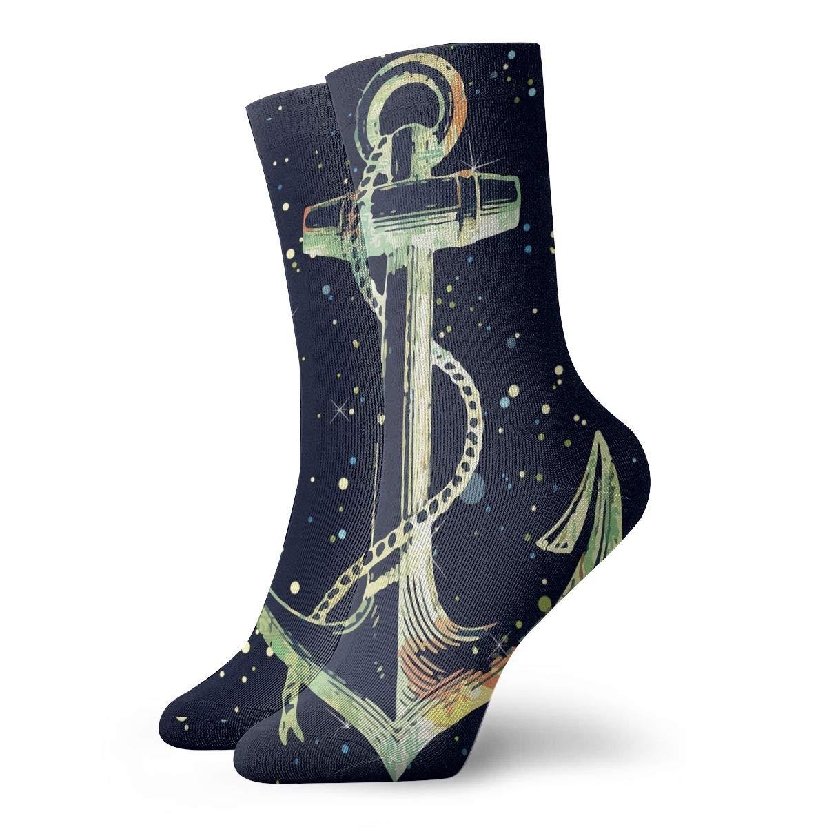 Anchor Fashion Dress Socks Short Socks Leisure Travel 11.8 Inch