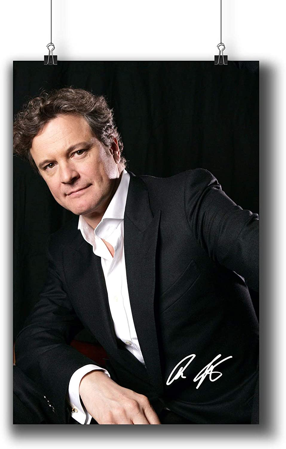 Colin Firth Actor Movie Photo Poster Prints 006-004 Reprint Signed,Wall Art Decor for Dorm Bedroom Living Room (A4|8x12inch|21x29cm)