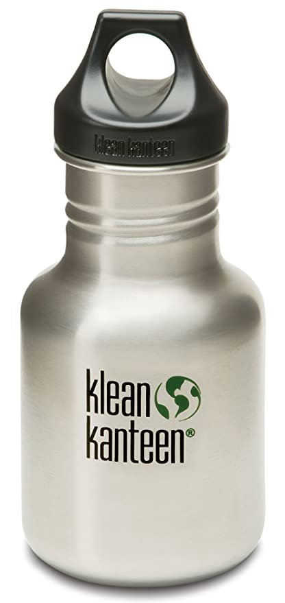 Klean Kanteen Stainless Steel Water Bottle With Poly Loop Cap 12 Ounce