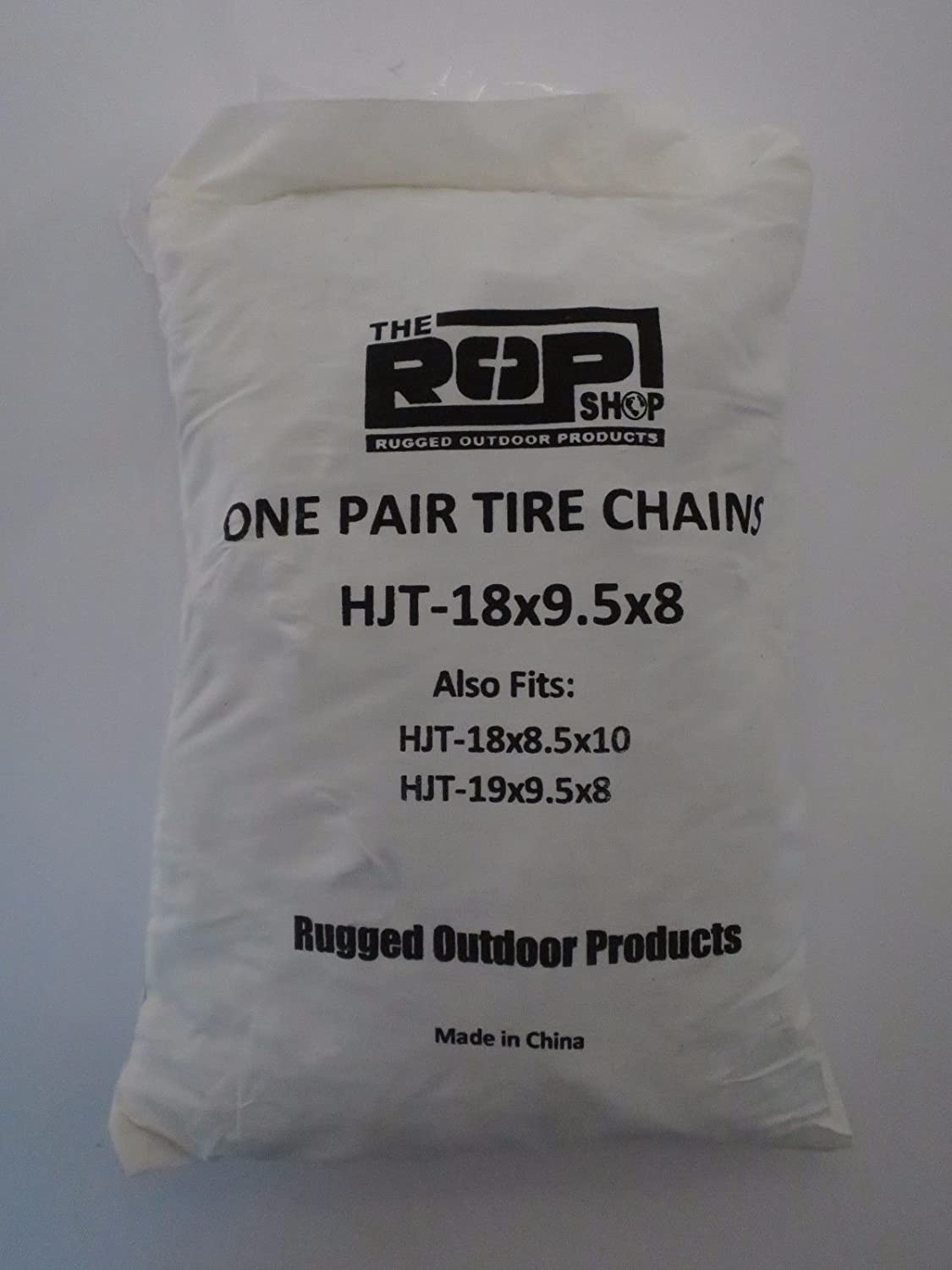 The ROP Shop New Pair 2 Link TIRE Chains 18x9.50x8 for UTV ATV 4-Wheeler Quad Utility Vehicle