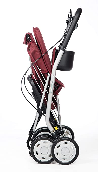 Amazon.com: Carlett Shopping Trolley with seat Lett 800 Red ...