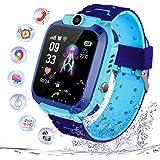 PTHTECHUS Niños Smartwatch Impermeable, Reloj Inteligente Phone con LBS Tracker SOS Chat de Voz Cámara Despertador Juego…