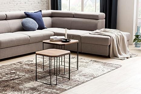 Tavoli Quadrati Moderni : Set di 2 tavolino design akola da sheesham legno set tavolo