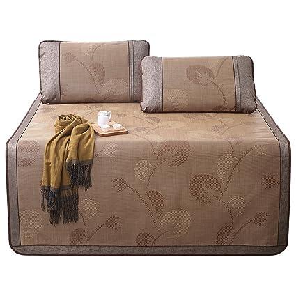 LWFB Colchoneta de verano para dormir / colchoneta de enfriamiento en rattan de tres piezas /