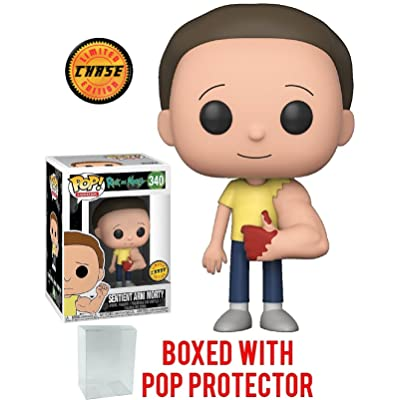 RICK AND MORTY Funko Pop! Animation Bloody Sentient Arm Morty Chase Variant Limited Edition Vinyl Figure (Bundled with Pop Box Protector Case): Toys & Games