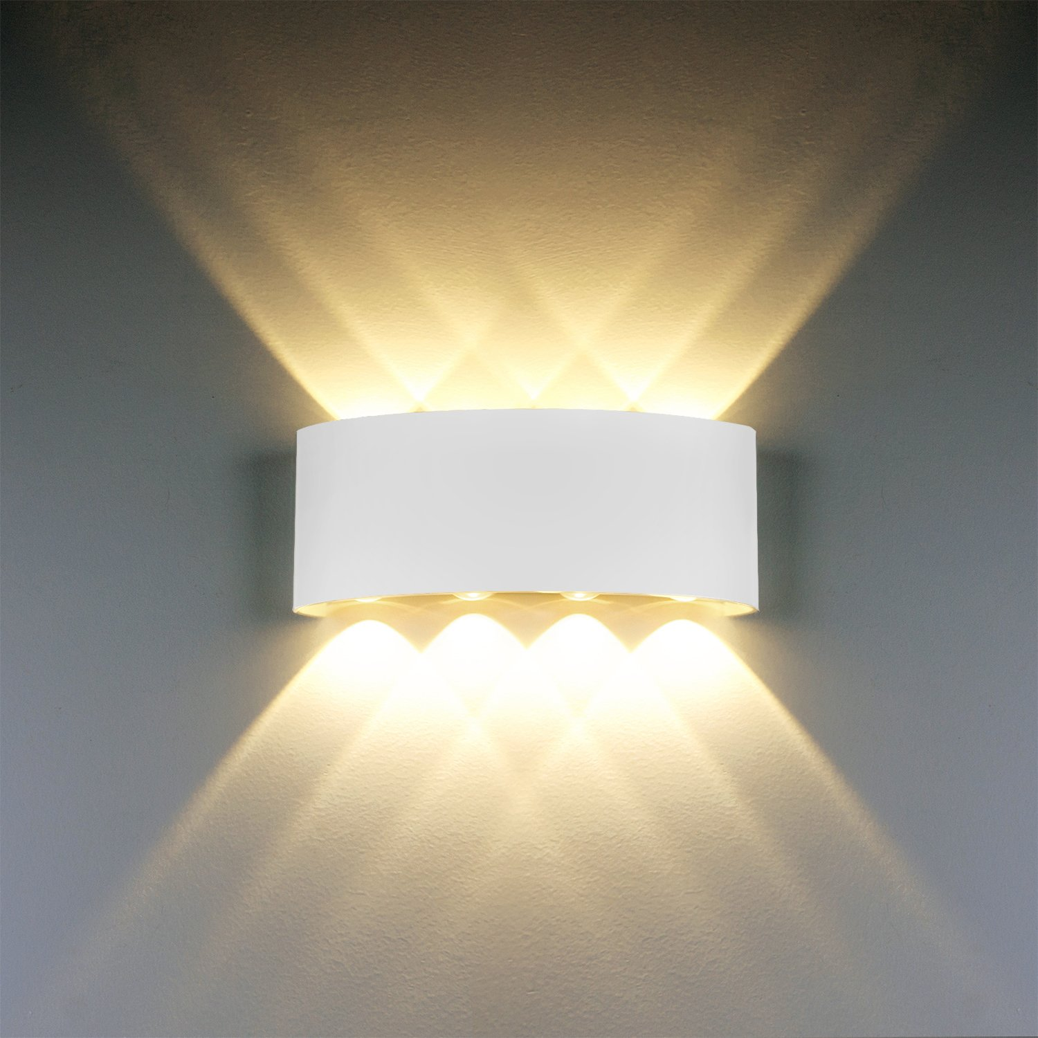 Modern wall light 8w white led sconce up down lamp aluminium modern wall light 8w white led sconce up down wall lamp aluminium led waterproof spot light night lamp for living room bedroom hallway aloadofball Image collections