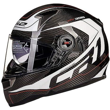 1-1 Ciclismo Completo Cascos con airbag Fibra de Carbon Doble Gafas de protección Ajustable