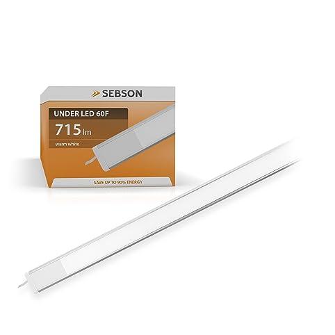 SEBSON® LED sottopensile luce calda, 60cm, 11W (pari a 55W), 715 ...