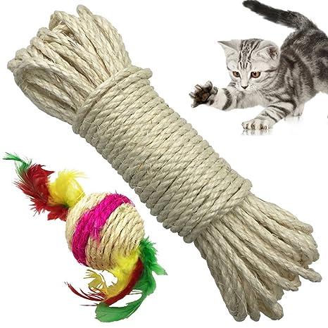 Amazon Com Yangbaga Cat Natural Sisal Rope For Scratching Post