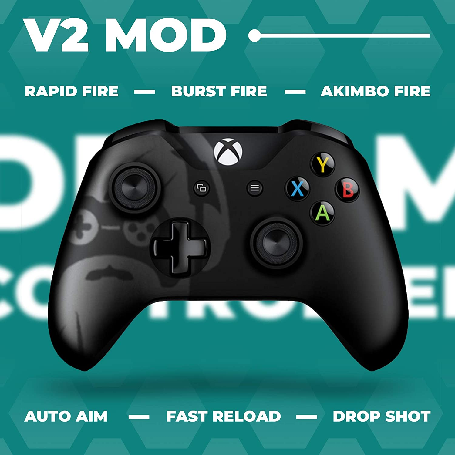 Rapid Fire and Aimbot Xbox One Controller with Included Mods Manual DreamController Modded Xbox One Controller Xbox One Modded Controller Works with Xbox One S//Xbox One X//and Windows 10 PC