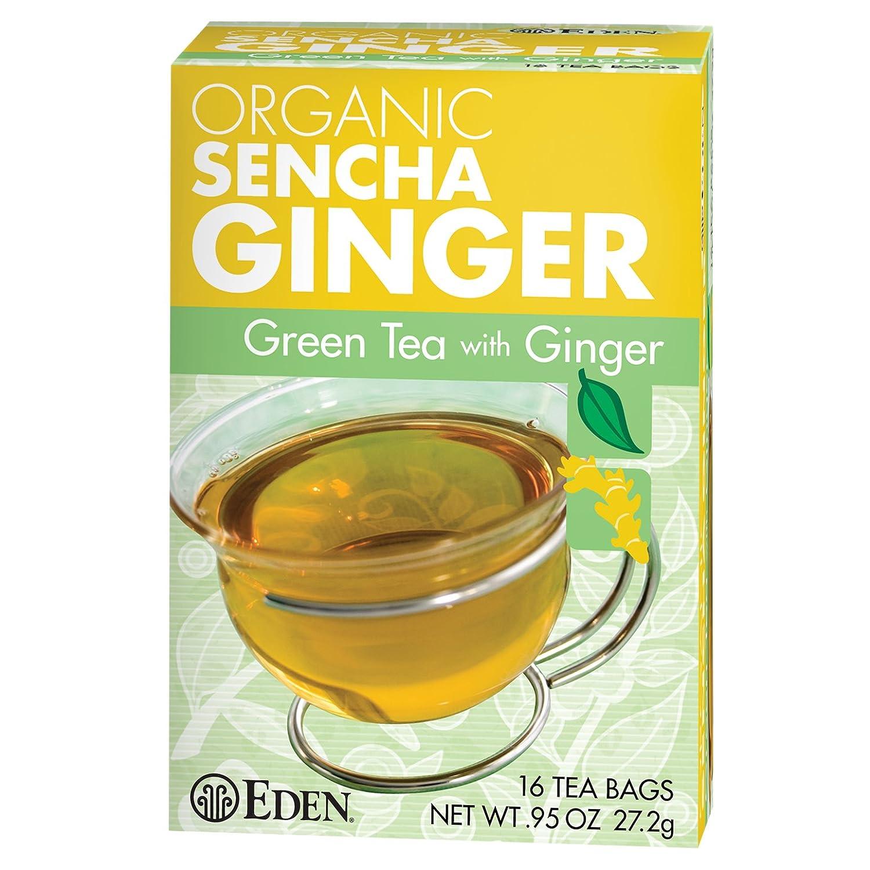 Eden Organic Sencha Ginger Green Tea Box, 16 Count Tea Bag