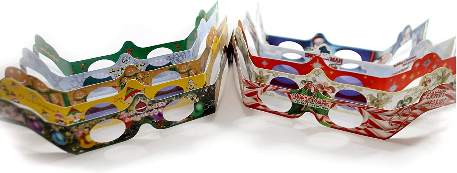 10 3D Christmas Glasses - Holiday Specs Turn Holiday Lights into Magical Images