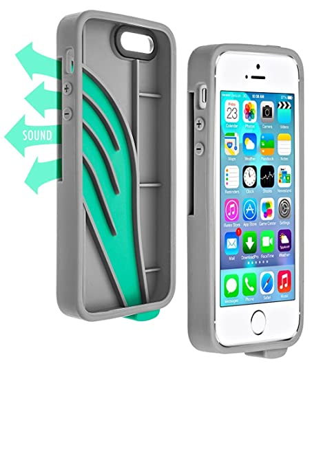 d3d37f4ccfe Amazon.com  Vaas Boost Protective Case w Sound Amplifying for Apple iPhone 5    5S   SE - Gray (Retail Packaging)  Cell Phones   Accessories