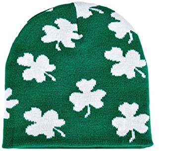dc1cdaf68e4 Image Unavailable. Image not available for. Color  Irish Shamrock Beanie ...