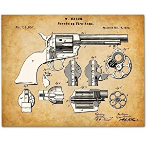 Colt Peacemaker Revolver - 11x14 Unframed Gun Patent Print - Makes a Great Gift Under $15 for Gun Owners and Office Decor