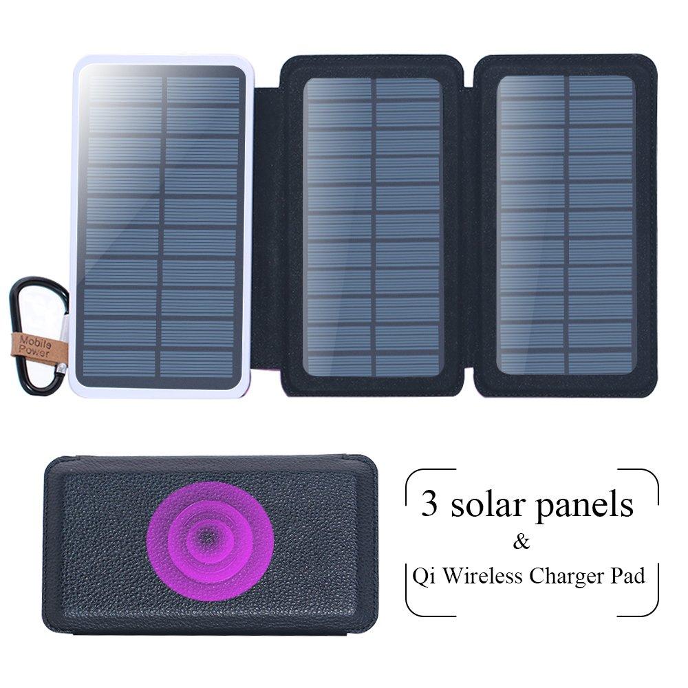 Amazon.com: Cargador inalámbrico energía Solar bank ...