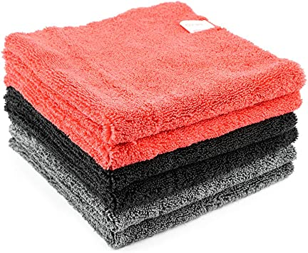 Detailers Preference Ultra Plush 500GSM Professional Korean Edgeless Microfiber Towels 16x16 Inches 6 Pack