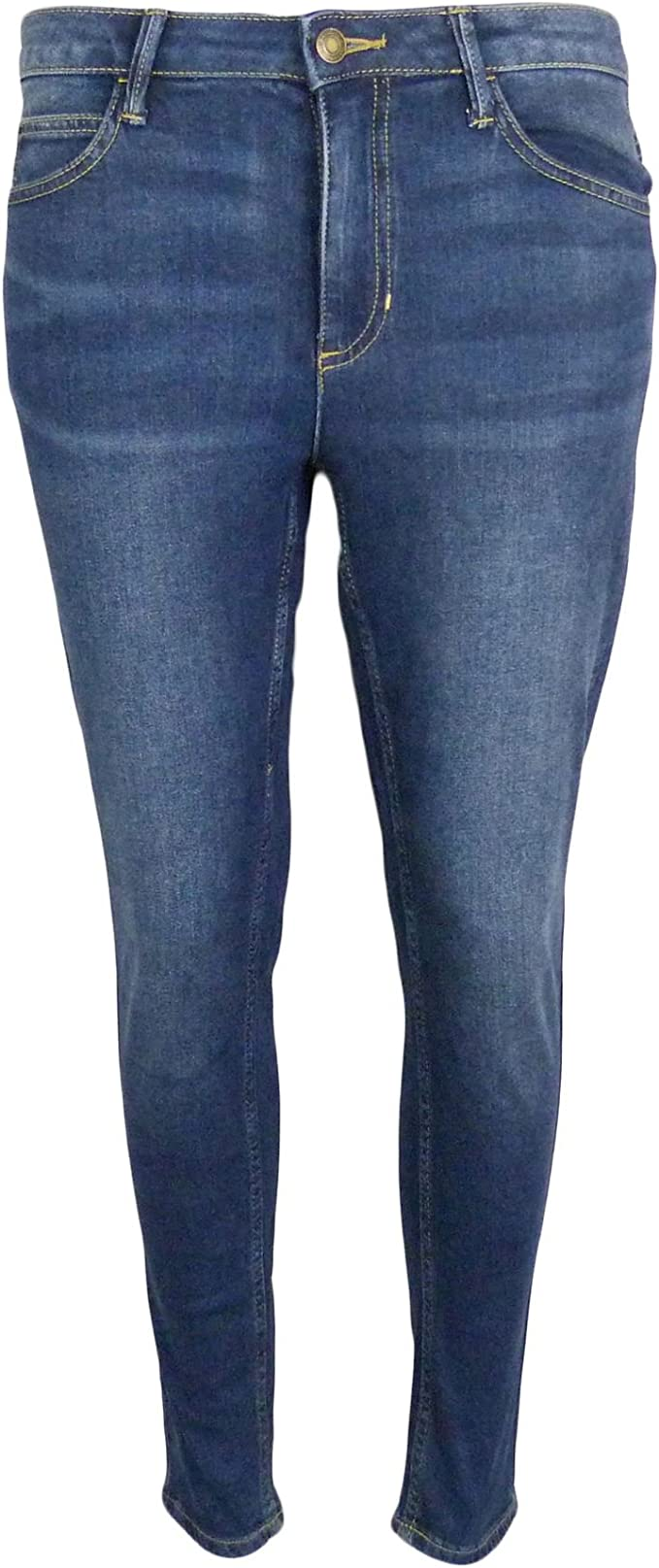 Ex M/&S Marks And Spencer Mid Rise Cropped Straight Leg Jeans