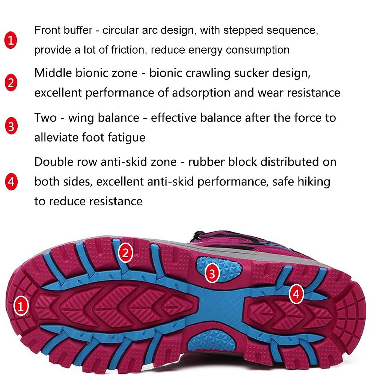 FEOZYZ Womens Hiking Boots Trekking Shoes Anti- QLMXZY's 1008 - 5