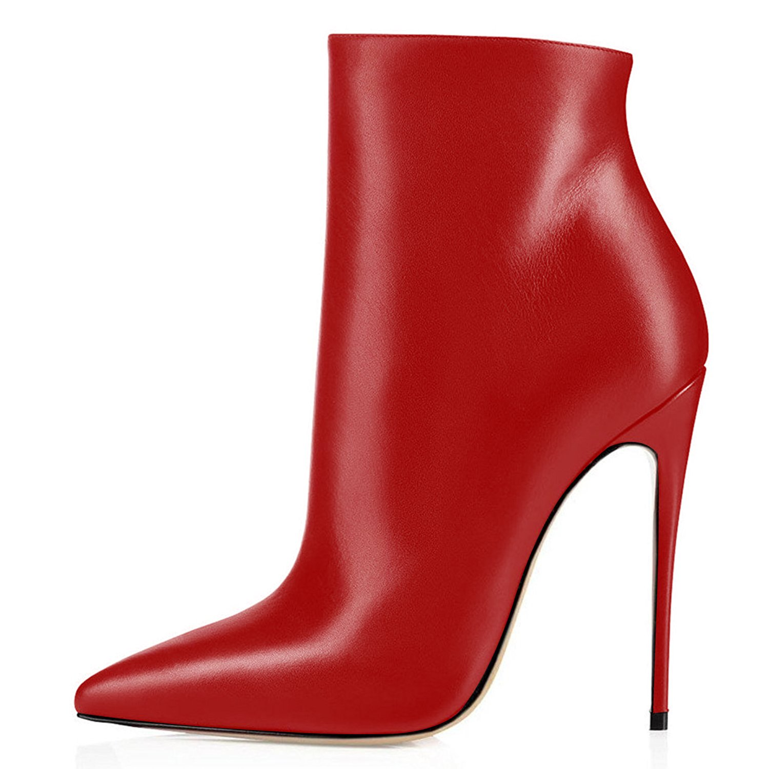 ELASHE Bottes Classiques Classiques Femme Rouge | 12cm ELASHE Bottine à Talon Haut | Zip Stiletto Talons hauts Ankle Boots Chaussures Rouge 8f3c9b1 - jessicalock.space