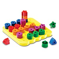 Learning Resources Stacking Shapes Pegboard, Fine Motor Toy, 26 Piece Set, Ages 2+