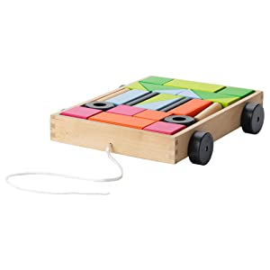 IKEA.. 303.554.57 Mula 24 Building Blocks with Wagon
