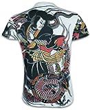 Ako Roshi Camiseta Hombre Miyamoto Musashi Talla M L XL Japón Artes Marciales Tatuaje Irezumi Hannya Buda