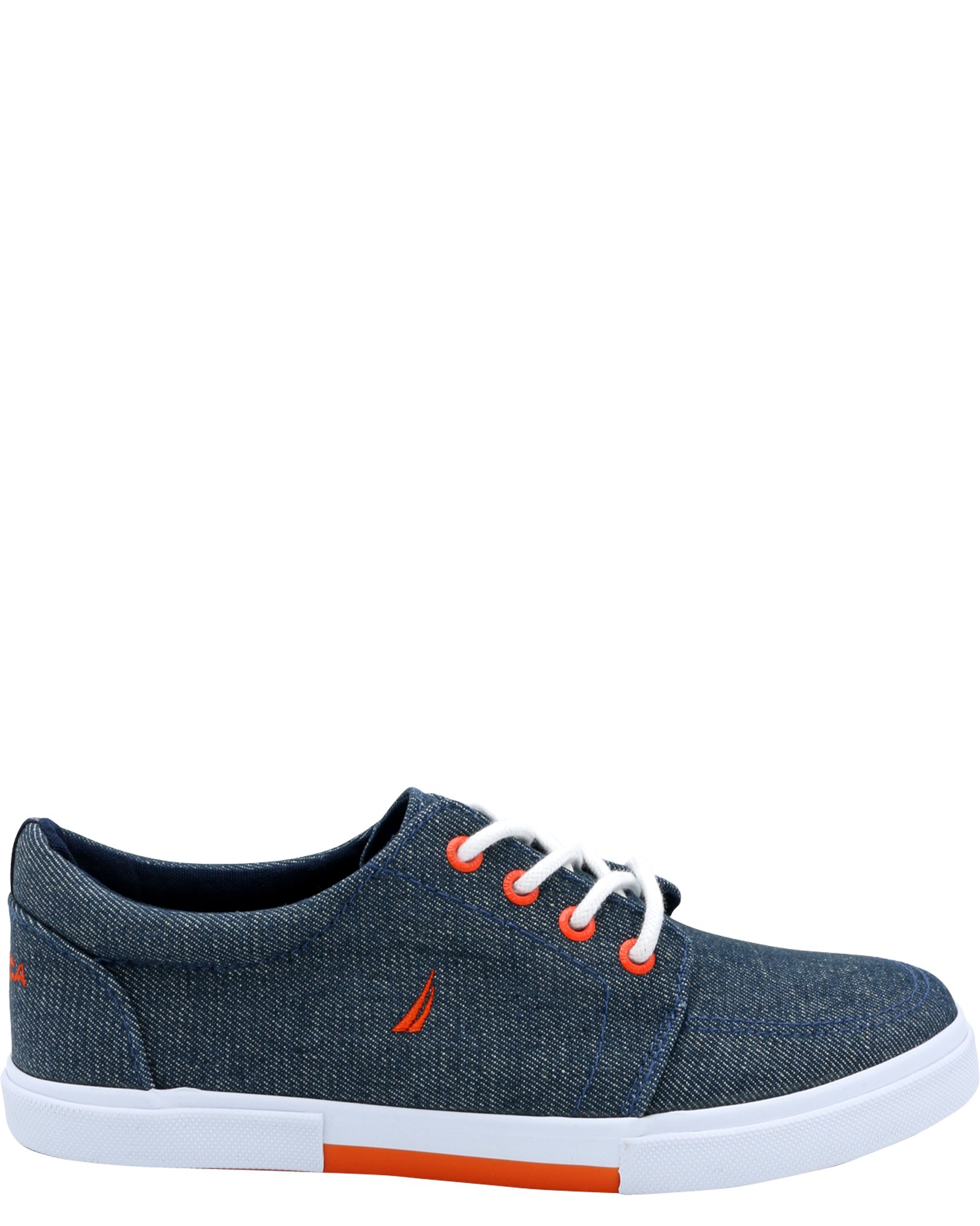 Nautica Boys' Berrian Low-Top Sneakers (Sizes 13-5) - Chambray Blue, 5 Youth