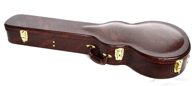 Funda de color marrón Carcasa rígida de guitarra eléctrica Les Paul forma totalmente acolchada y con forro: Amazon.es: Electrónica